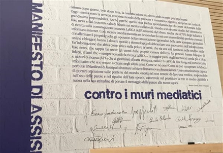 "Carta di Assisi, contro muri mediatici e hate speech. ""Non sarà un alibi"""